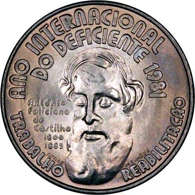 Reverse of 1984 Portugal 25 Escudos