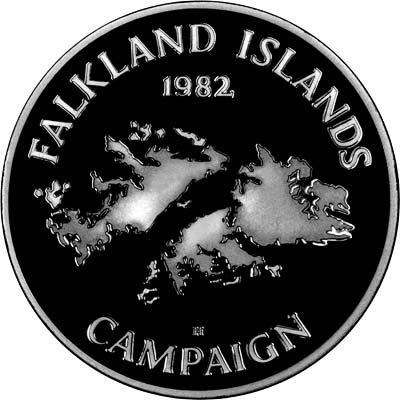 Obverse of Falkland Islands Campaign Silver Medallion