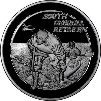 Reverse of Silver Medallion - South Georgia Retaken