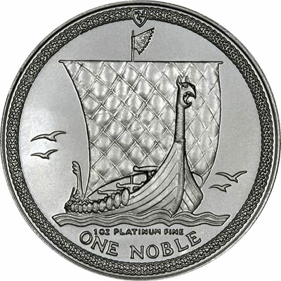 Reverse of Manx One Ounce Platinum Noble