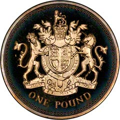 Reverse of One Pound Coin