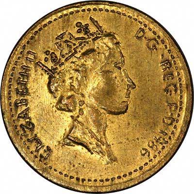 Obverse of 1986 Fake One Pound Coin