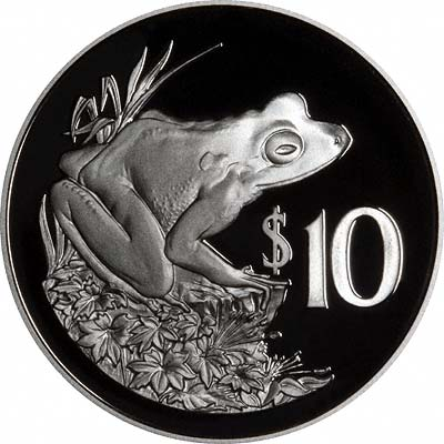 Frog on Reverse of 1986 Silver Proof $10