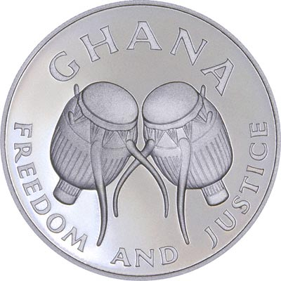 Obverse of 1986 Ghana Commonwealth Games Silver Proof 100 Cedis