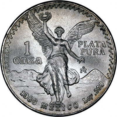 1986 One Ounce Mexican Silver Libertad