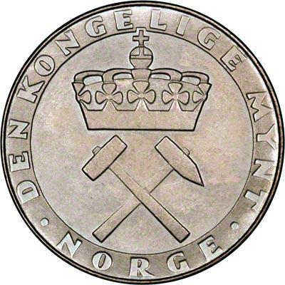Obverse of 1986 Norwegian 5 Kroner