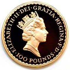 Gold Britannia with the Queen's Third Portrait