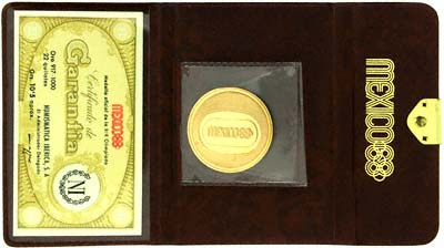1968 Mexico Olympics Gold Medallion in Presentation Wallet