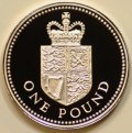 Royal Arms on Plain Shield on Reverse of 1988 Pound Coin
