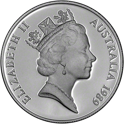 1989 Australian Ten Dollar Silver Proof Coin
