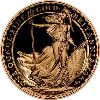 Reverse of 1989 Gold Britannia