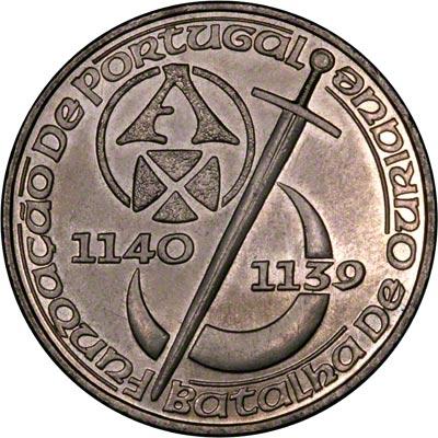 Reverse of 1989 Portugal 250 Escudos