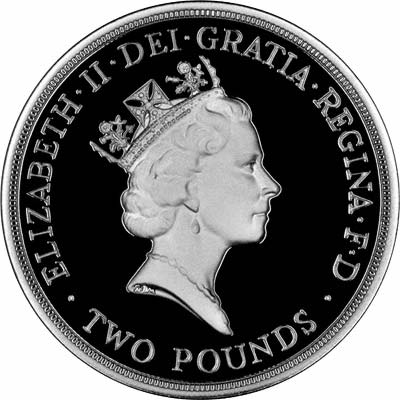 Third Portrait Obverse of 1989 £2 Coin
