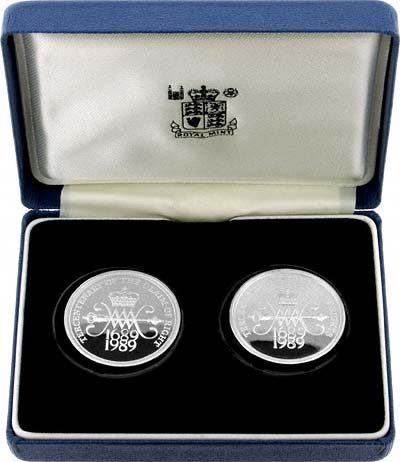 1989 Silver Proof Two Coin Set