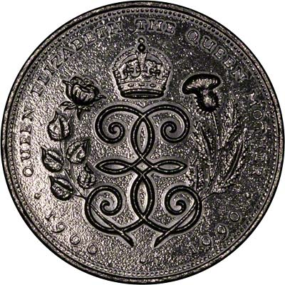 Reverse of Tumble Polished 1990 Queen Mother's 90th Birthday Crown