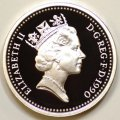 Third Portrait on Obverse of 1990 Pound Coin