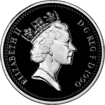 British One Pound Coins - Welsh Design 1990