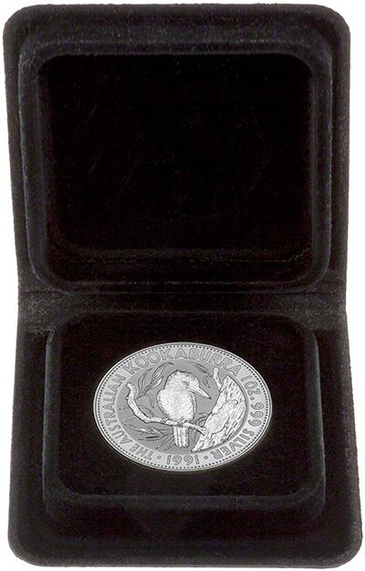1991 Australian Silver Kookaburra in Presentation Box