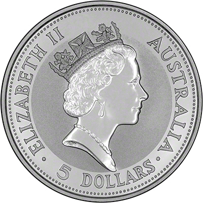 Obverse of 1991 Australian Silver Kookaburra