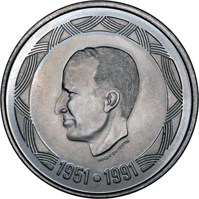 Obverse of 1991 Belgian 500 Francs