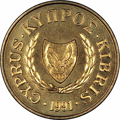 Obverse of 1991 20 Cents