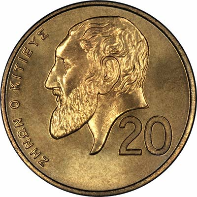 Reverse of 1991 20 Cents