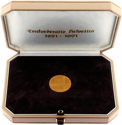 Switzerland 250 Francs Games Gold Medallion in Presentation Box