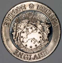 Obverse of 1992 25 ECU England Pattern Crown