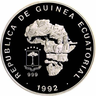 Obverse of 1992 Equatorial Guinea 15,000 Francos