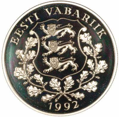Reverse of 1992 Estonian 10 Krooni