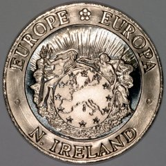 Obverse of 1992 Northern Ireland 25 ECU Pattern Crown