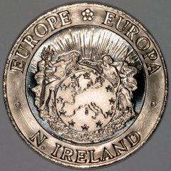 Obverse of 1992 Northern Ireland 25 ECU Pattern Crown