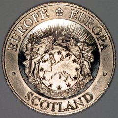 Obverse of 1992 Scottish 25 ECU Pattern Crown