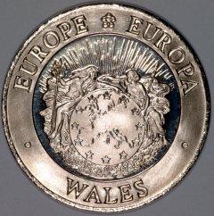 Obverse of 1992 Welsh 25 ECU Pattern Crown