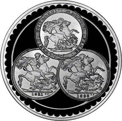 Reverse of Pistrucci Medallion 1993