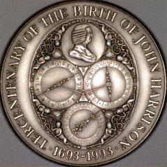 Obverse of 1993 John Harrison Medallion