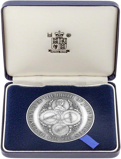 1993 John Harrison Medallion In Presentation Box