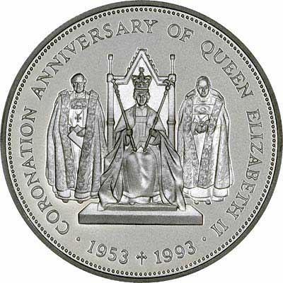 Reverse of Saint Helena & Ascension Silver Proof £2 Crown