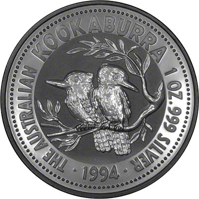 Reverse of 1994 Australian Silver Kookaburra