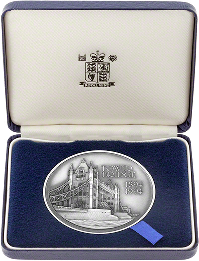 1994 Tower Bridge Silver Medallion In Presentation Box