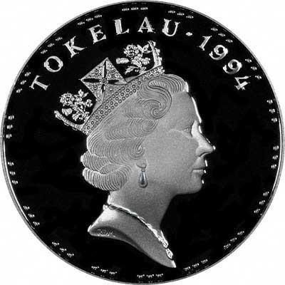 Obverse of 1995 Tokelau Silver 5 Talas