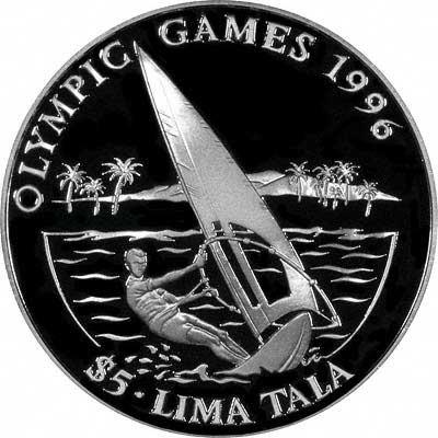 Reverse of 1995 Tokelau Silver 5 Talas