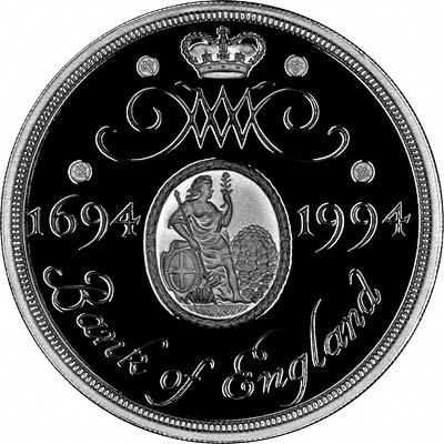 Reverse of English 1994 Silver Proof £2 Coin
