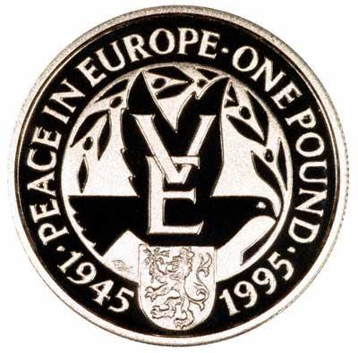 Reverse of Alderney Silver Proof £1 of 1995