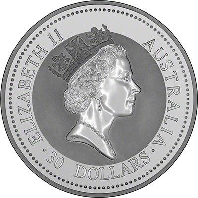 1 Kilo Australian Silver Kookaburra Coin 1992 1992 1 Kilo