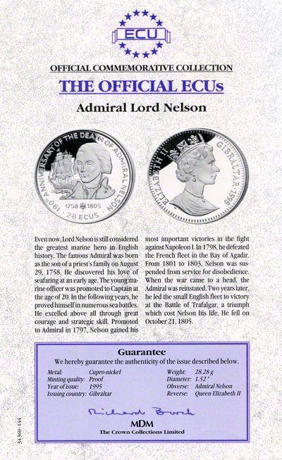 1995 gibraltar cupro nickel cert