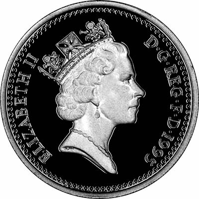 Third Portrait on Obverse of 1995 Pound Coin