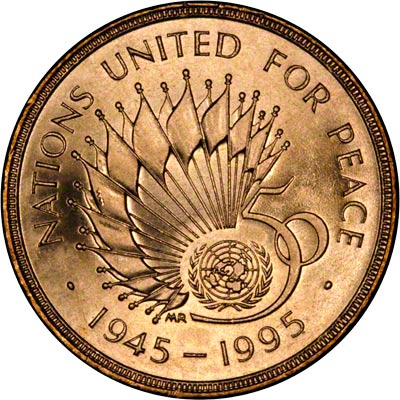 Reverse of 1995 Ordinary Circulation Two Pound Coin