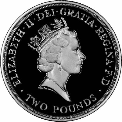 Third Portrait Obverse of 1994 £2 Coin