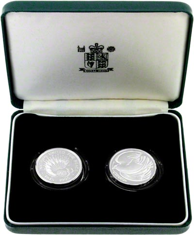1995 Silver Proof Two Coin Set in Presentation Box